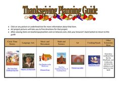 Free Thanksgiving Planning guide...
