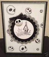 Disney Nightmare Before Christmas Zero Handmade Greeting card Silver!!