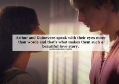 Such a beautiful romantic love story between Arthur and Gwen...