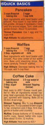Memere's Favorite Recipes: 3 Bisquick Box Recipes
