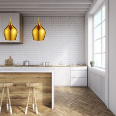 This Large Vibrant Gold Bell Pendant Light has a sophisticated artisan look. The shapely gold shade hangs elegantly from the ceiling, providing an attractive beam of light. And it makes any room look contemporary, vibrant and chic. The light fitting can e Ceiling Height, Light Fittings, Aluminium, Beams, Vibrant, Contemporary, Furniture, Home Decor, Cloche
