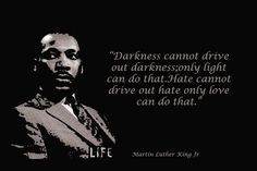 Martin Luther King Quotes Darkness Black Background