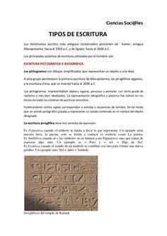 Ciencias Soci@les                      TIPOS DE ESCRITURA Los testimonios escritos más antiguos conservados provienen de S...