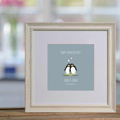 Perfect Penguins personalised print £48