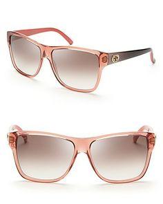 Gucci Colorblock Wayfarer Sunglasses | Bloomingdale's