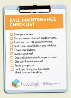 Fall Maintenance Checklist... https://www.houselogic.com/organize-maintain/home-maintenance-tips/fall-checklist/ #fallmaintenance  To get organized with Sherri Papich, Professional Organizer with Organize Your Life LLC Call Today (716)560-5990 or visit www.YouCanOrganizeYourLife.com  Servicing most Western New York & The Southtowns. Virtual services also available.