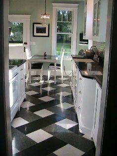 Simple Basketweave Alternative to Traditional Black & White Tile