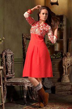 Red Georgette Designer Kurti