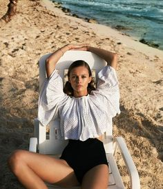 Top model Edita Vilkeviciute chills in St. Barts, styled in relaxed separates by Elissa Santisi in 'Away We Go'. Photographer Cass Bird flashes Edita for WSJ Magazine April Hair by Esther Langham; makeup by Frank B Beach Editorial, Summer Editorial, Editorial Photography, Fashion Photography, Happy Photography, Film Photography, Photography Ideas, Fashion Shoot, Editorial Fashion