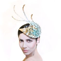 Dragon Scale Headpiece Unique Latex Fascinator by MaorZabarHats