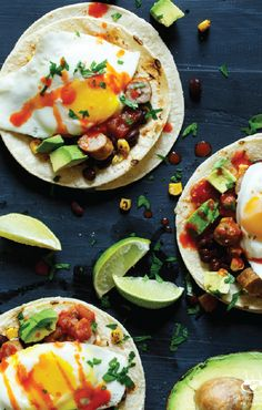 If you love to enjoy brunch with your girlfriends, this recipe for Huevos Rancheros Sausage Breakfast Tacos should be the next dish on the menu! Have your breakfast guests choose their toppings from avocados, cheese, pico de gallo salsa, and hot sauce to give this savory morning creation a personalized feel.