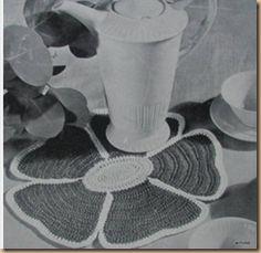 CROCHET POT HOLDERS AND PLATE MATS