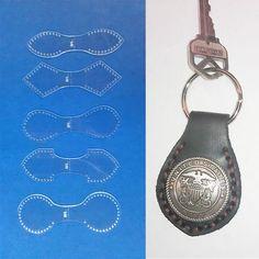 DUAL KEYFOB TEMPLATE SET FOR LEATHER CRAFT - 5 PIECE - FREE SHIPPING - NEW 2013 | Рукоделие, Изготовление изделий из кожи, Инструменты для работы с кожей | eBay!