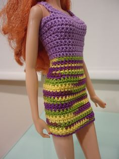Crochet Simple Dress Pattern : 1000+ images about BARBIE Crochet & Knitting Patterns on ...
