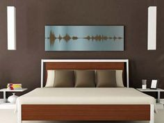 A voice message turned into beautiful art.  Voice Art Gallery Custom Sound Wave Art