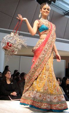 Frontier Raas http://www.facebook.com/pages/Frontier-Raas/182004391931171 Lehenga at ASIANA BRIDAL SHOW 2010, LONDON