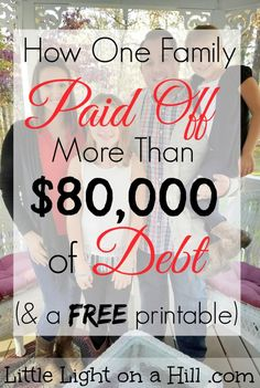 What an inspiring story of one family's journey to pay off more than $80,000 of debt!! Read how they became debt free paid off their debt.