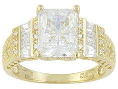 Bella Luce(R) 4.75ctw 18k Yellow Gold Over Sterling Silver Ring