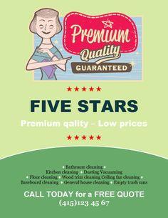 Five Stars Business Flyer Template