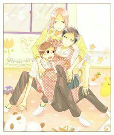 (Créditos a su respectivo autor)❤ Tokyo Ghoul, Manga Art, Manga Anime, Sanrio Danshi, Gakuen Babysitters, Gekkan Shoujo Nozaki Kun, Naruto, Awesome Anime, Babysitting
