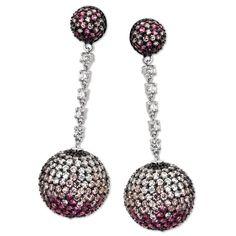 Pink Bling Earrings
