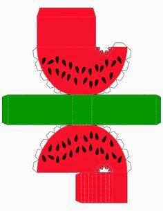 Sandía: Imprimibles Gratis para Fiestas. Watermelon Birthday Parties, Fruit Party, Printable Box, Printables, Diy Paper, Paper Art, 3d Paper Crafts, Diy Arts And Crafts, Crafts For Kids