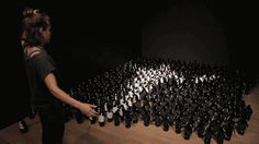 laughingsquid:  'Penguins Mirror', An Interactive Installation Featuring 450 Motorized Toy Penguins