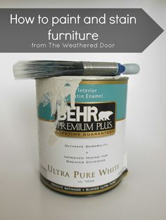 How to paint and stain furniture - great tips on how to refinish furniture from start to finish.