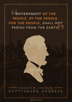 Repin in honor of Abraham Lincoln's address at Gettysburg and the legacy of his words.