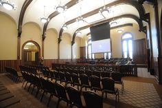 1875 courtroom at the Livingston County Courthouse - Pontiac, IL.  Restored in 2012.