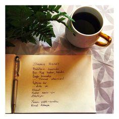 Kaffee und Gedicht schreiben