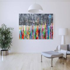 Buy Back Home - XL colorful abstract painting, Acrylic painting by Ivana Olbricht on Artfinder. Discover thousands of other original paintings, prints, sculptures and photography from independent artists. Grey Office, April Showers, Abstract Styles, Acrylic Painting Canvas, Original Paintings, Sculptures, In This Moment, Prints, Colorful