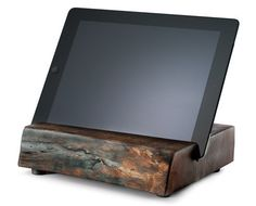 Reclaimed Wood iPad Stand by Kaufmann Mercantile