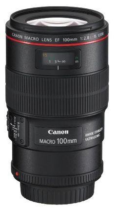 Canon EF 100mm f/2.8L IS USM Macro Lens for Canon Digital SLR Cameras - $ 899.00     FEATURED  Canon EF 100mm f/2.8L IS USM Macro Lens for Canon Digital SLR Cameras   Lens Construction: 15 elements in 12 groups. Canons first mid-telephoto macro L series lens to include Canons sophisticated Image Stabilization Focal Length  Maximum...