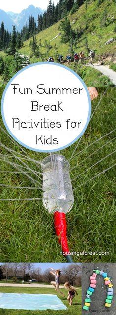 Fun Summer Break Activities for Kids. Summer, summer hacks, pool hacks, pool party ideas, Fourth of July, summer holiday