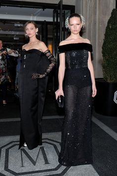 Sasha Pivovarova and Anna Ewers in Balenciaga. Photo: Getty Images