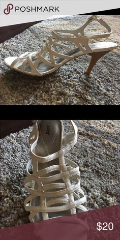 White Strappy High Heels Apt. 9. Worn once. Size 8. Apt. 9 Shoes Heels