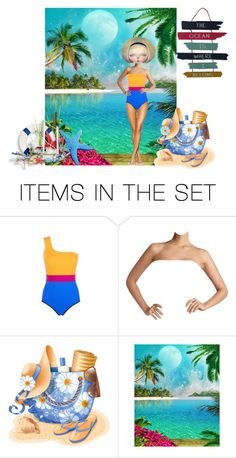 """""""Beach Babe"""" by sjlew ❤ liked on Polyvore featuring art"""
