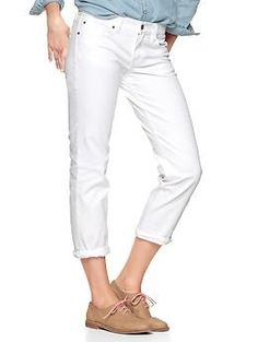 Gap 1969 real straight skimmer jeans | Gap Jeans in white.