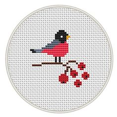 Bird cross stitch pattern Counted cross stitch by MagicCrossStitch