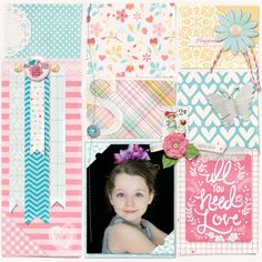 Mother's Day Album - Shelby 2 | Digital Scrapbook Gift Idea | Block grid style layout w/lots of color