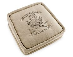 Floor Pillow - French lentil bags find new life as a tufted, hand-sewn cushion. ($169; ballarddesigns.com; CL DEAL: enter CL15 at checkout for a 15% discount)