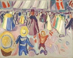 """Edvard Munch: «17th of May in a small Norwegian Town"""", 1919"""