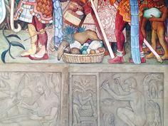 Detail muurschildering Diego Rivera