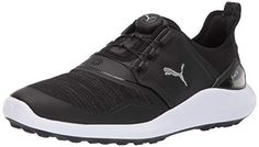 info for 9f804 2519b Puma Golf Men s Ignite Nxt Disc Golf Shoe Black Silver-Puma White, 10.5 M US