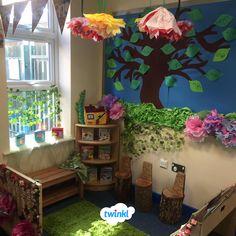 Reading Garden Classroom, Book Corner Classroom, Eyfs Classroom, Future Classroom, Classroom Themes, Library Displays, Classroom Displays, Classroom Organization, Garden Projects