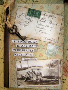 Altered Vintage Style Journal