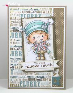 CC Designs, Snowflake, snowy sentiments, make a card #12 die