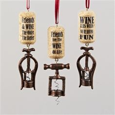 vintage cork screw ornament cork ornaments christmas wine christmas holidays wine decor