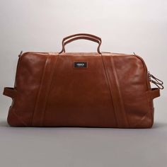 Beautiful scientist duffle bag in Cognac designed by Anthony Mazzei.